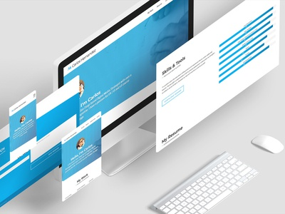 Responsive Portfolio Website Mockup