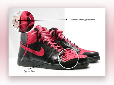 Custom Jordan Retro 1 - Website Module Design