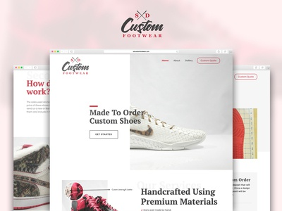SD Custom Footwear - UX, UI, & Branding