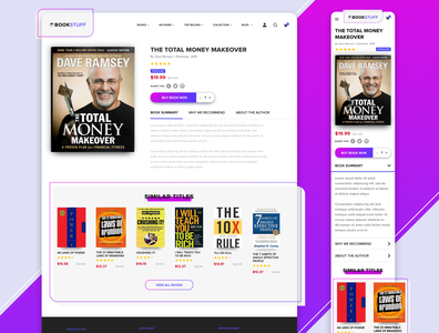 BookStuff - Book Detail Page Concept