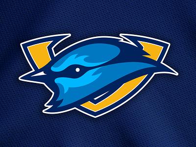 LV Mountain Bluebirds Logo nhl vegas las vegas bluebird logo hockey