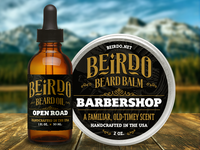 Beirdo Beard Company labels