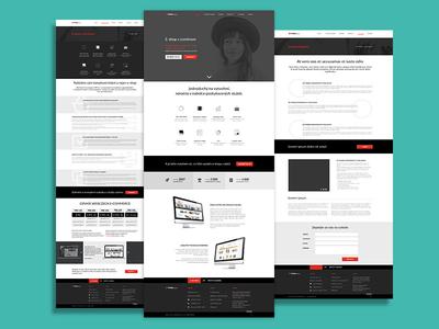 Black and red website red black website design web interface user ux redesign concept