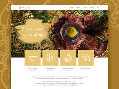 Web design for Ruhina with love :) web design 1200 px henna refugee orient