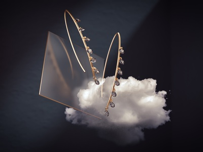 ARESA New York Diamond Jewelry caustics reflection light prism refraction glass retail luxury fashion motion graphics animation design 3d model blender jewelry product design 3d jewelry 3d diamond