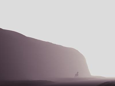 Lost in the Mist mist fog dog low poly animation design 3d model blender 3d