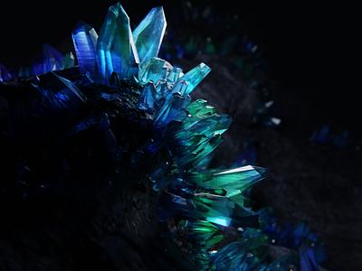 Crystal Cave blender 3d crystal gems glass cave geode crystal blender 3d