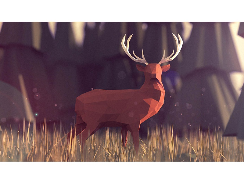 Low poly deer blender model design animals nature deer 3d low poly