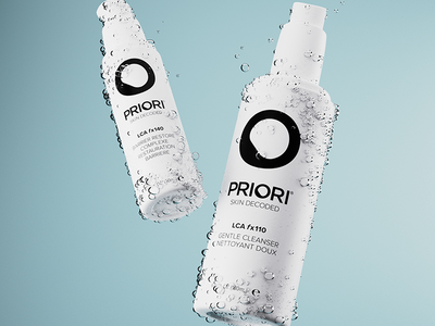 Priori Skincare Rebrand blender advertising commercial product skincare 3d