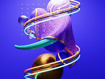 Fabric doodle blender 3d 3d model motion graphics design abstract 3d blender illustration