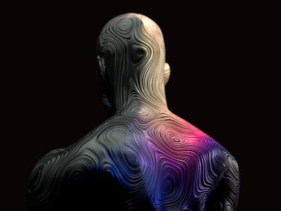 Human illustration blender 3d after effects motion graphics design abstract blender 3d