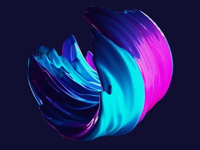 Swirl studies blender 3d motion graphics design abstract blender 3d