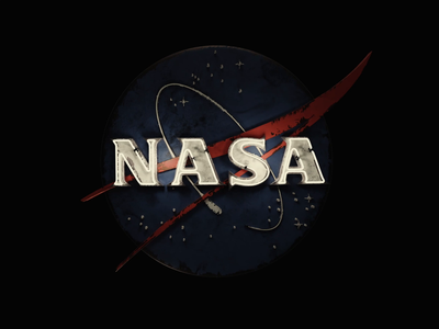NASA Logo bumper space force space travel 3d motion graphics animation bumper sci fi neon sign logo nasa