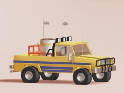 Dorothy IV cinema 4d c4d 3d model 3d blender lowpolyart dorothy truck hollywood movie twister lowpoly low poly