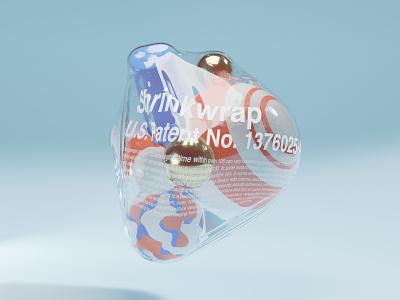 Shrinkwrapped cinema4d houdini 3d model motion graphics design blender 3d abstract blender 3d