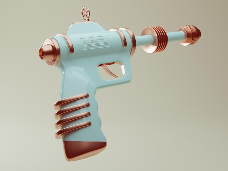 RAY GUN blender 3d model retro astronaut space travel ray gun 3d