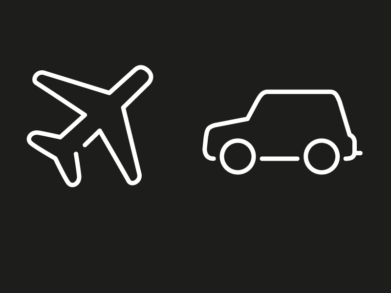 WIP - Travel icons icons airplane car wip