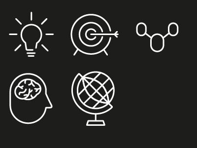 WIP- Icons idea thinking target network globe icon wip brain bulb