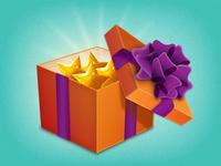Gift box opened