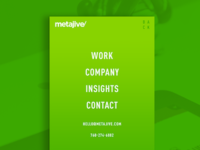 Metajive Contact Web Page