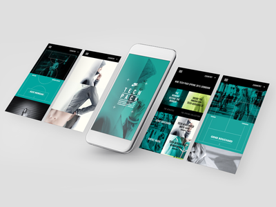 Nike Tech Pack App responsive layout ux design typography web dev web design website mobile