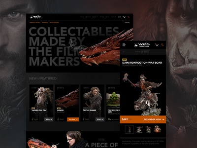 Weta Hero branding illustration responsive layout ux ecommerce custom images typography website design web dev web design mobile