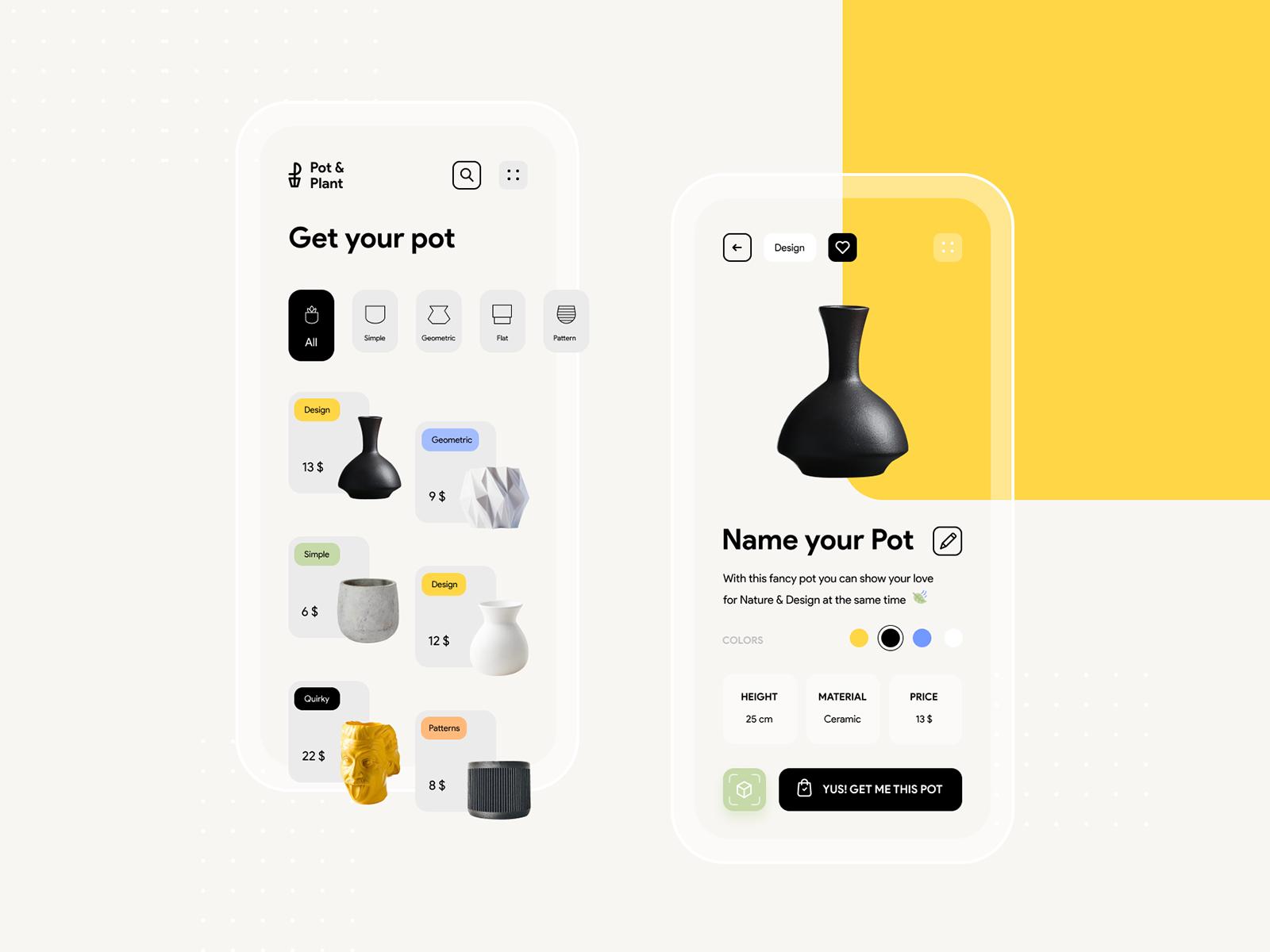 AR App Design by Cátia G. on Dribbble