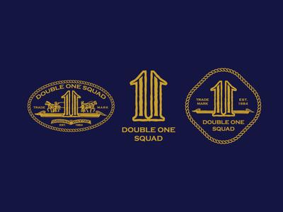 Double one squad logo set