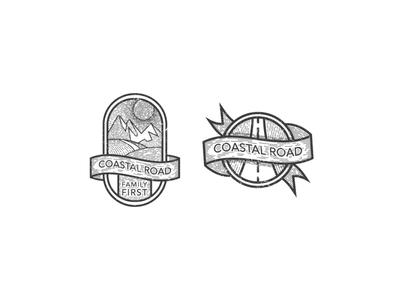 Coastal road graphic works