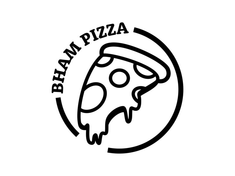 Birmingham Pizza Logo pizza flat vector ui design illustration logo clean branding