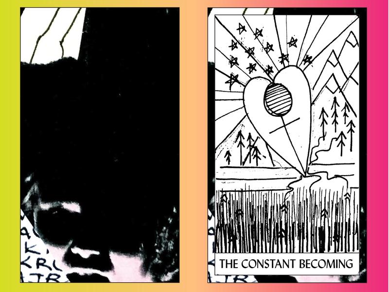 "THE ABSTRACT TAROT | ""The Constant Becoming"" (The Empress) creativity art direction creative direction illustrator micron pen black and white creator tarot deck tarot graphics illustration design"