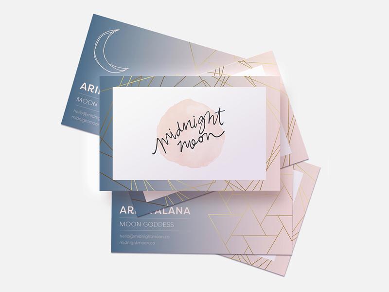 Midnight Moon | Biz Card creative direction branding mockups brand identity design graphic designer logo designer typography layout color logo branding design branding business card design