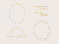 APHRODITE'S APOTHECARY   logo concepts