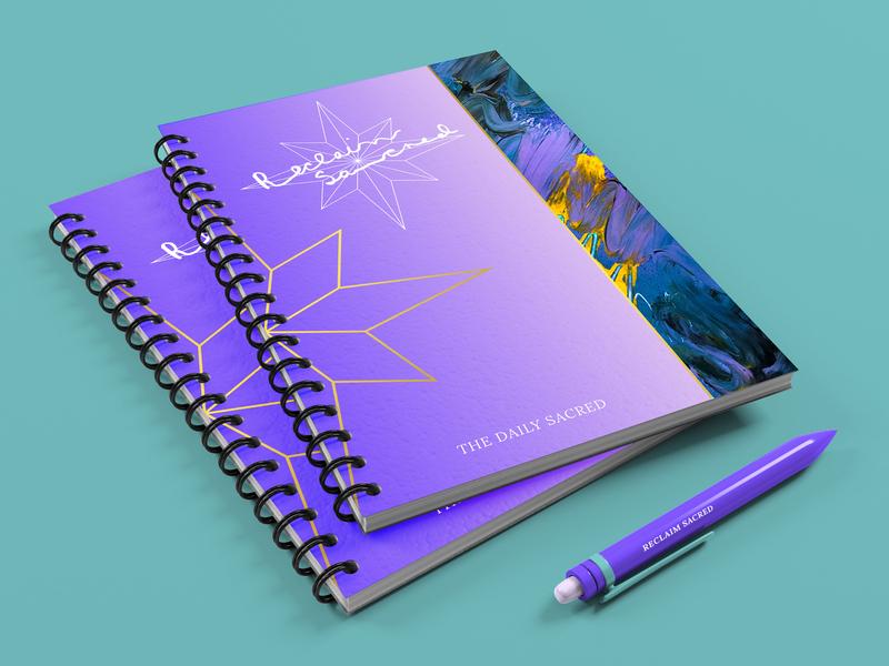 RECLAIM SACRED | Notebook brand designer brand identity design graphic designer creative typography creative direction logo illustration layout branding graphic design notebook design