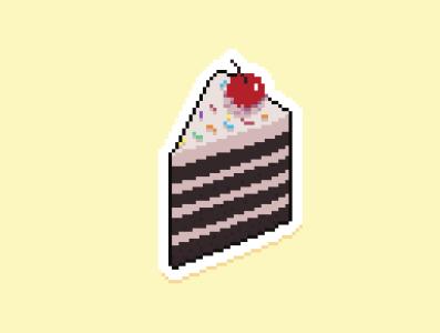 Pixel Cake nft illustration pixelart aseprite pixels sprite 8bit 16bit cake art pixel art