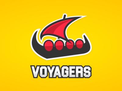 Voyagers Logo shields sail ship mascot logo identity sports esports branding