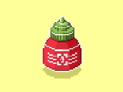 Sriracha Travel Size rooster travel food isometric pixel art pixel sauce sriracha