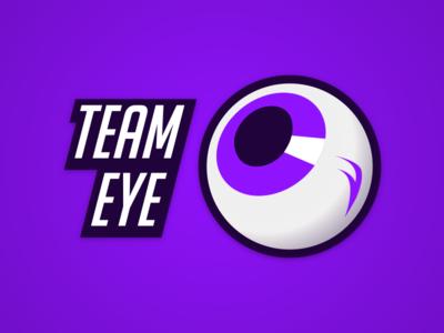 Team Eye Logo purple sport sports eye logo identity esports branding