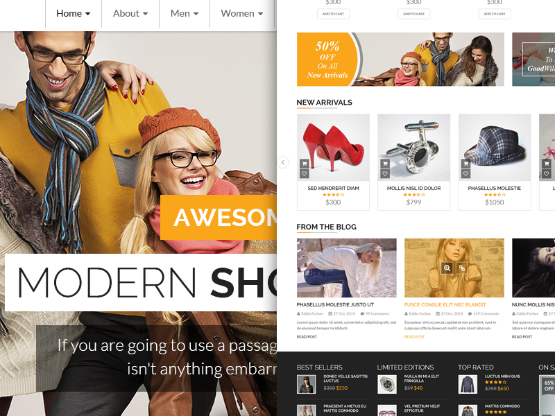Online Store online store design ui flate template products theme