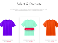 Select and decorate