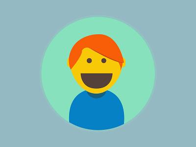 Avatar Selfie avatar flat design illustration