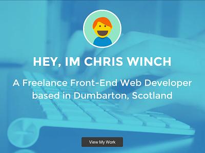 Portfolio Landing Screen website web design portfolio freelance
