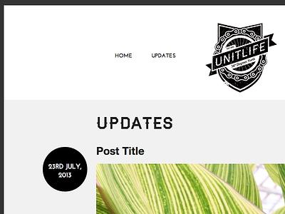 Unit Life web website web design website design minimal