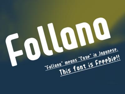 Follana Font Freebie typography freebie free font