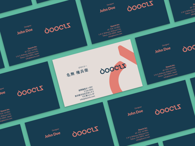 Doocts Business Cards business card corporate identity typography logo