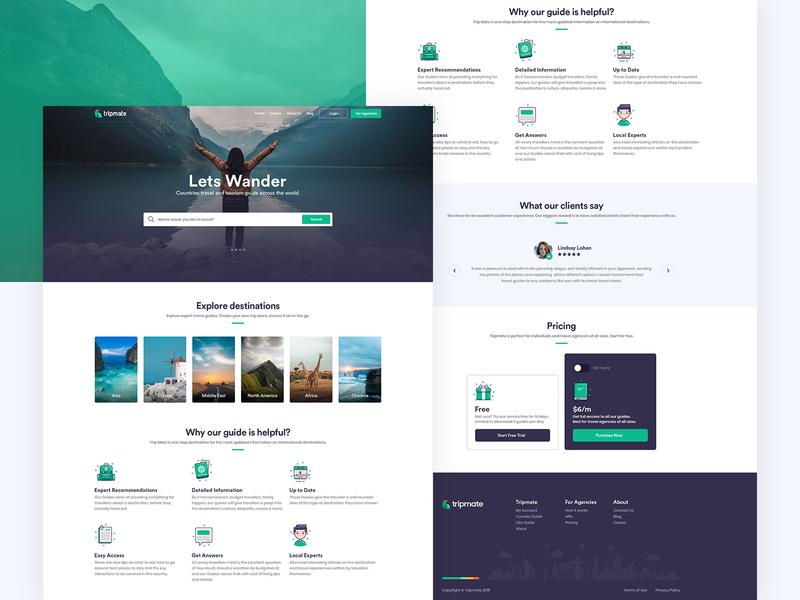 TripMate Landing Page