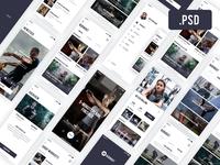 Fitness App [Free PSD]
