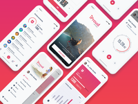 iProud App gamification excercise fitness mobile app appdesign app ux ui ios