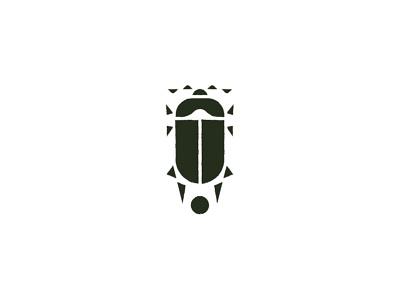 Scarab Logo minimal brand animal green graphic logo insect beetle scarab