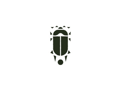 Scarab Logo minimal brand animal green graphic logo insect beetle scarab